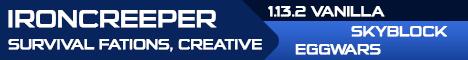 Banner of Minecraft server Iron Creeper