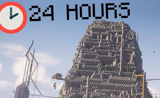 I Survived 24 Hours in 2b2t