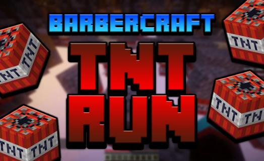 Gameplay of the TNTRun plugin used on Barbercraft