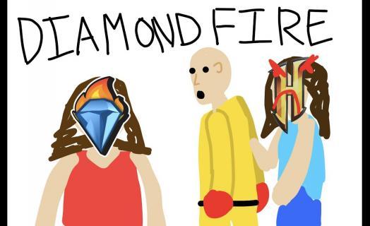 YouTuber happyheart explains building games on DiamondFire!