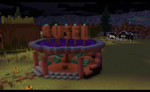 Timelapse of our Halloween Build Event on Cavetale