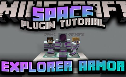 Showcase of the Explorer Armor added to the Space plugin featured on Barbercraft